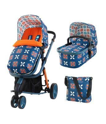 The fantastic value Mothercare Xpedior pram and pushchair travel system comes complete with an infant carseat ensuring it's easy to get out and about with your little one.
