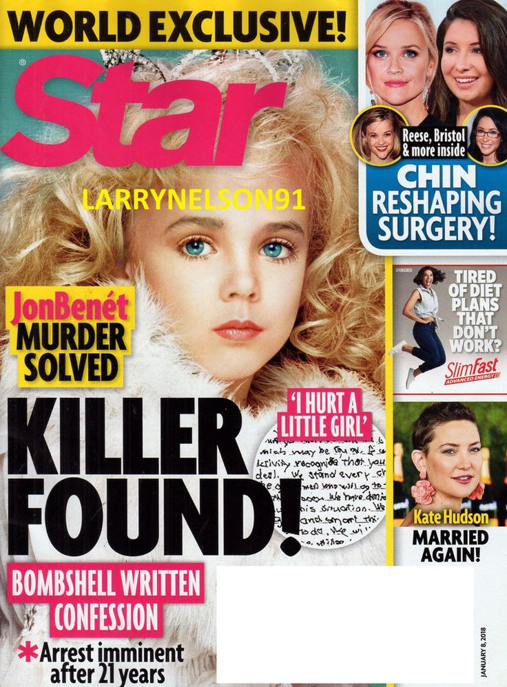 STAR MAGAZINE JANUARY 8 2018 JONBENET MURDER SOLVED JULIA ROBERTS KOBE BRYANT US
