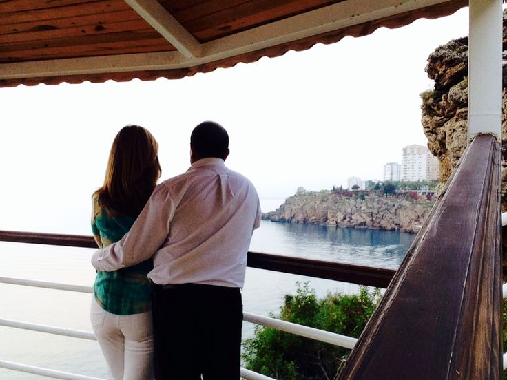 Antalya, Turkey breathing in some sea air during some of hubby's down time