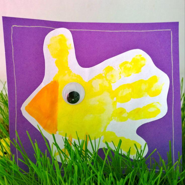 Pääsiäinen/ pääsiäiskortti/ Kädenjälki/ Easter/ Easter card/ handprint