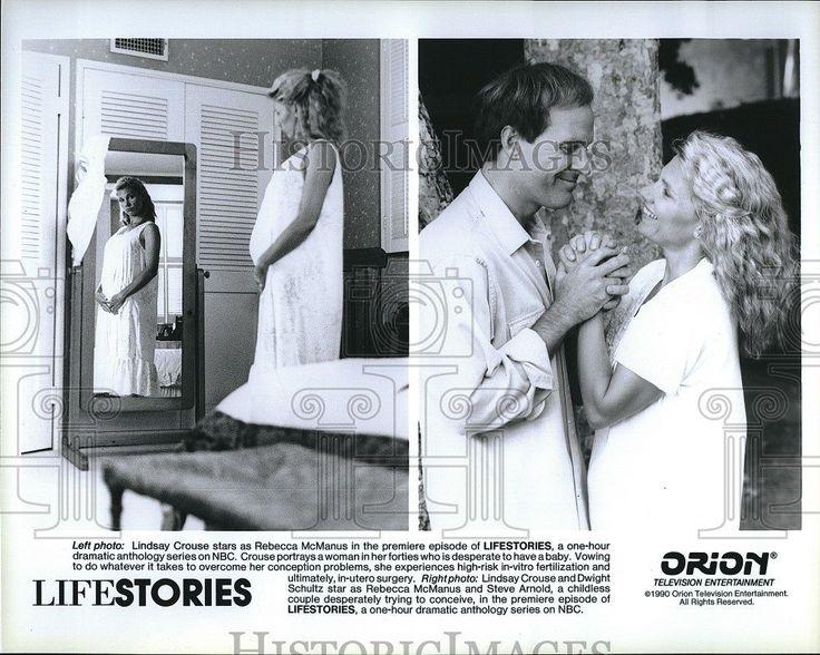 1990 Press Photo Lifestories Lindsay Crouse in-vitro Feriltization