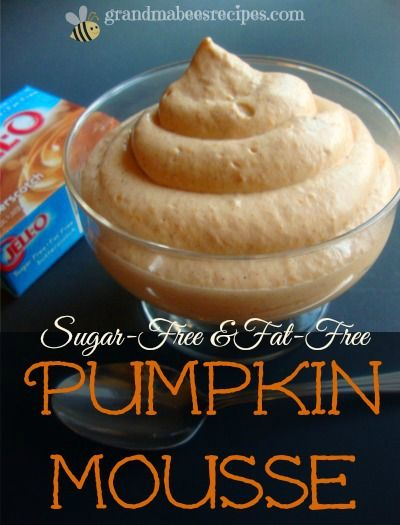 Sugar-Free & Fat-Free Pumpkin Mousse - Tastes like a rich dessert!