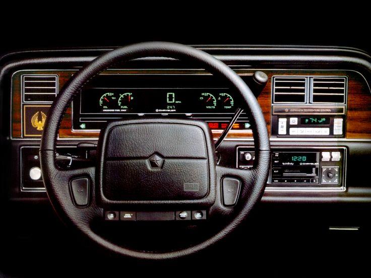1990 chrysler imperial interior and dashboard pinterest. Black Bedroom Furniture Sets. Home Design Ideas