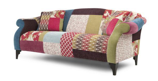 shout maxi sofa shout patchwork dfs ireland stuff for when i have a house pinterest. Black Bedroom Furniture Sets. Home Design Ideas