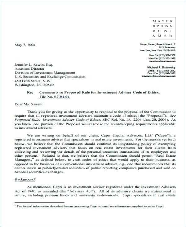 Investment Management Proposal Sample Unique Business Letter A
