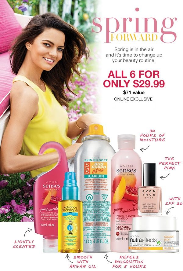 Skin So Soft Bug Guard Plus Icaridin Insect Repellent Spray I Deet-free spray repels mosquitoes for 5 hours and deer ticks for 7 hours. 113 g  Senses Body Care Juicy Pomegranate & Mango Hydrating Shower Gel Moisturizing body wash. A luscious fruit fragrance entices you with juicy sweet notes. 150  ml  Senses Body Care Juicy Pomegranate & Mango Body Lotion Creamy lotion leaves skin looking healthy and feeling velvety smooth. 250 ml  True Color Multi-Benefit BB Nail Enamel in Perfect Pink…