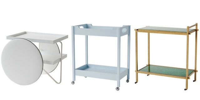 10 Designer-Approved Bar Carts - which I think could be used in any number of ways!