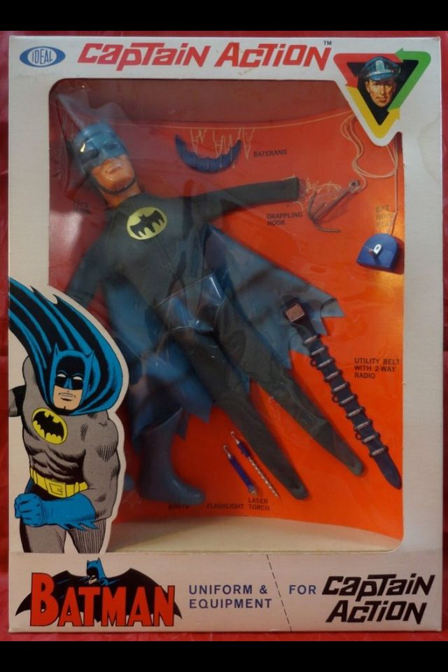 VINTAGE: 1960's Captain Action Batman costume set in original box collection,high grade sells @ auction for $2,799.99