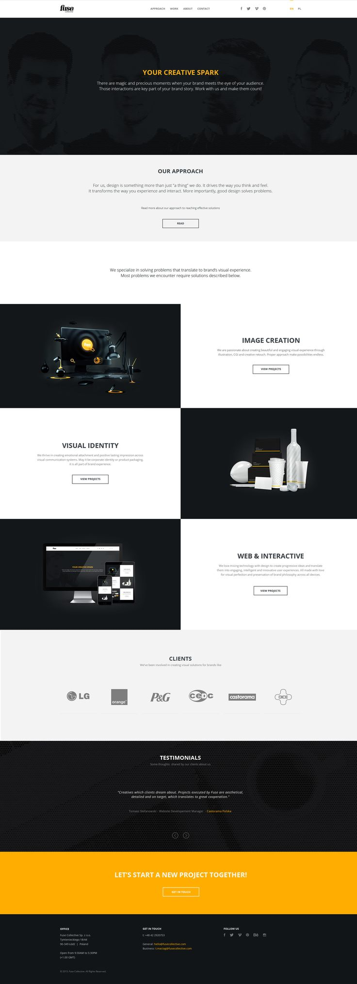 Fuse Collective Website on Behance