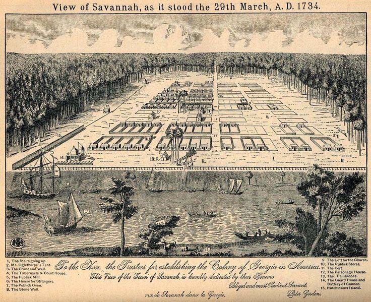 Oglethorpe's plan for Savannah.