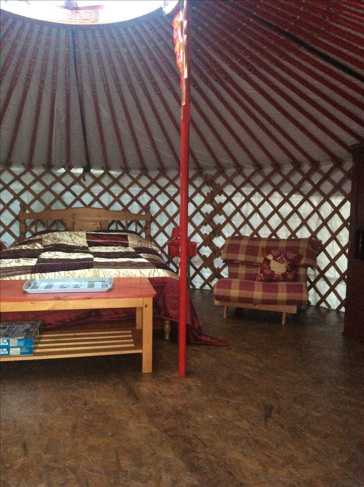The yurt has been moved, new floor and lining and cover.