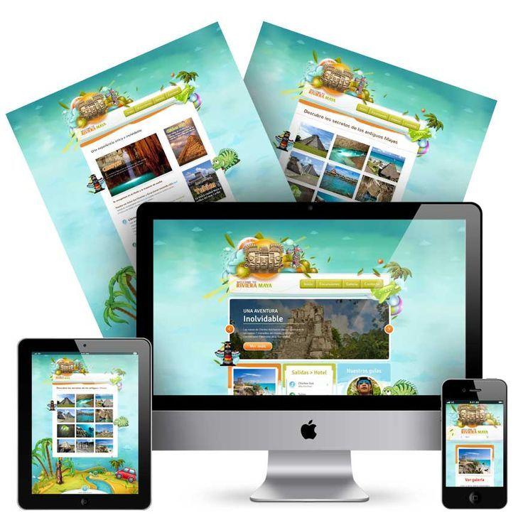 Viajes a la riviera maya. Diseño y creación web.