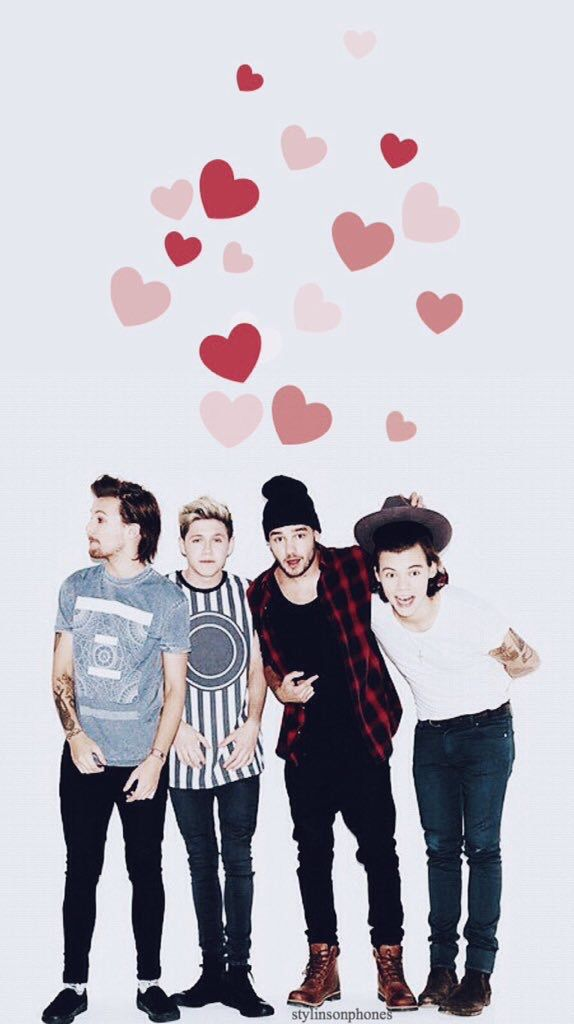 One Direction Valentine Lockscreen • ctto: @stylinsonphones
