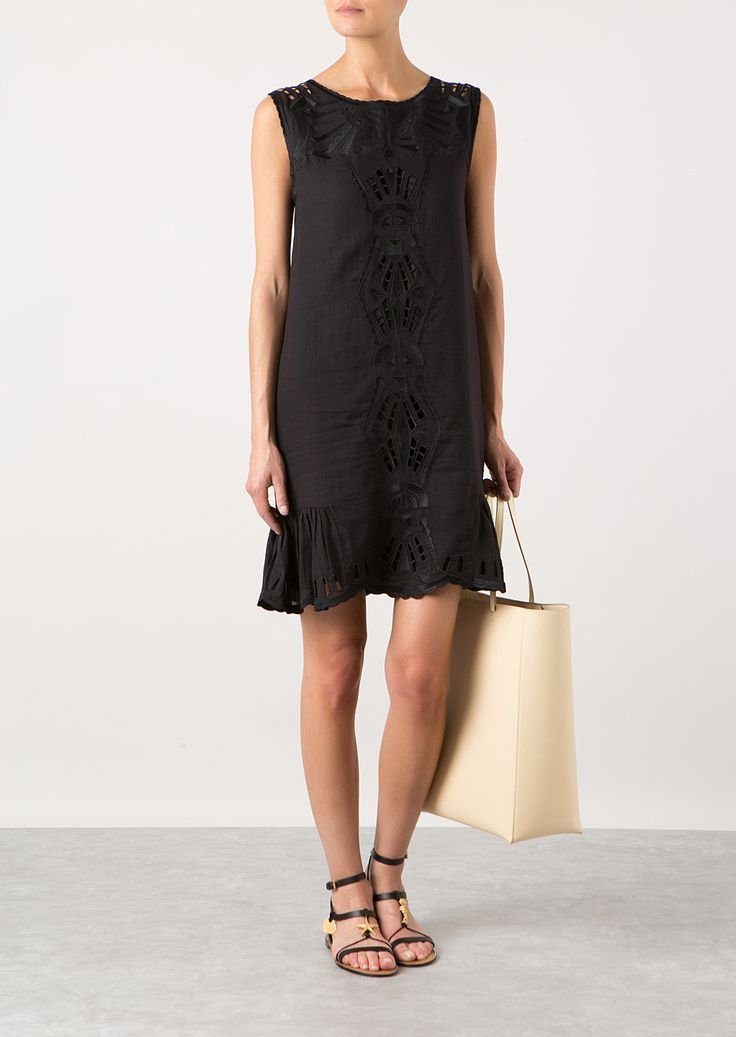 sea ny black embroidered dress - Google Search