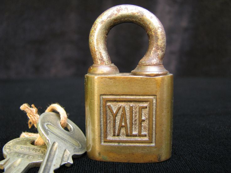 Antique Yale Lock, Two Original Keys, Vintage Yale Lock, Solid Brass Lock, Old Padlock, Old Tools, Classic Yale Lock, Industrial Lock by OldRaven on Etsy