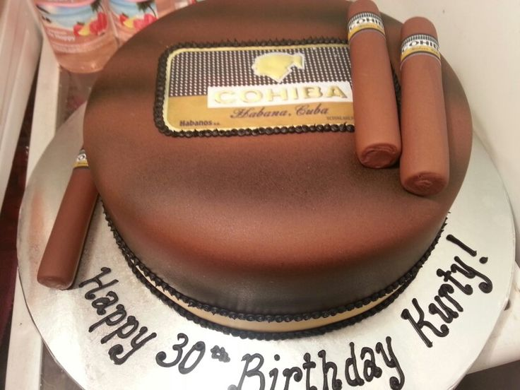 Cigar cake!