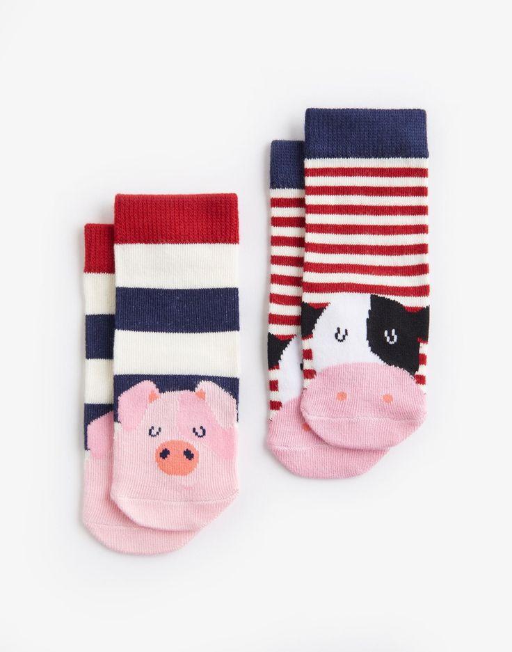 Neat feet Farm Twin Pack Character Socks