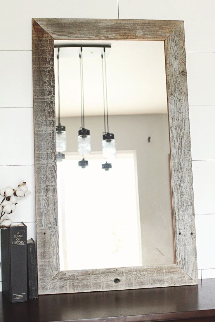 1000 ideas about reclaimed wood mirror on pinterest rustic room rustic wood and rustic frames Frames for bathroom wall mirrors