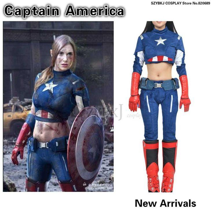 justice league superheld kostuum sexy kapitein amerika captain america vrouwen voor kerst en halloween en feest szybkjaa0275(China (Mainland))