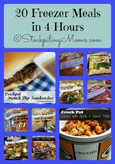 How to make 20 Freezer Meals in 4 Hours #freezermeal #crockpot #slowcooker