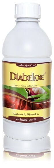 Diabeloe Liquido Es una combinación de extractos herbales eficaces para ayudar a eliminar los síntomas de la diabetes, Ayuda a acelerar el proceso metabólico y disminuir la cantidad excedente de glucosa en el torrente sanguíneo. Además es un tratamiento natural que controla la irritación del estomago, intestinos y colon www.hgcherbalusa.com