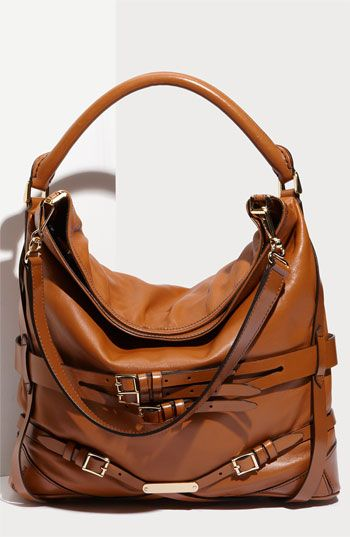 Burberry Belted Leather Hobo!