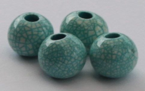 Enamelantique ceramic bead by Drageebeads on Etsy, Ft180.00