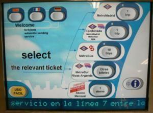 Travelling on the Madrid Metro