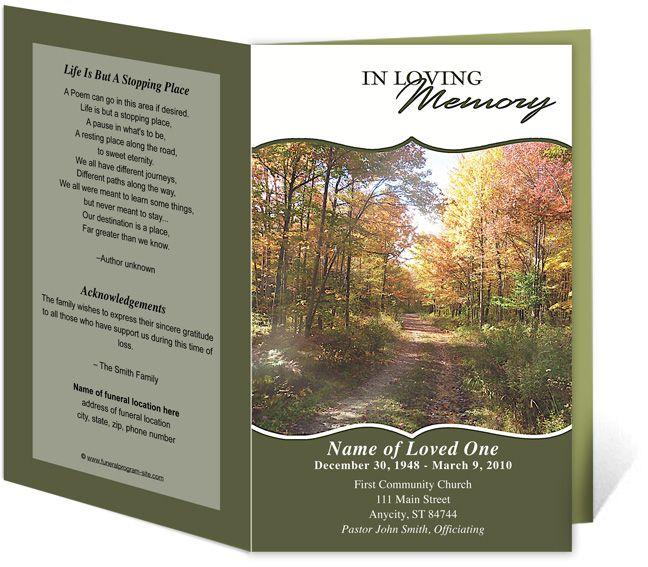printable funeral program templates .