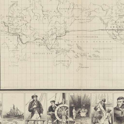 Verne's reis om de wereld in tachtig dagen, A. van Hoogstraten & Zn., 1876 - Rijksmuseum