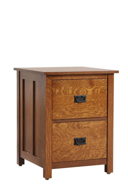 Amish Coventry Mission Two Drawers File Cabinet