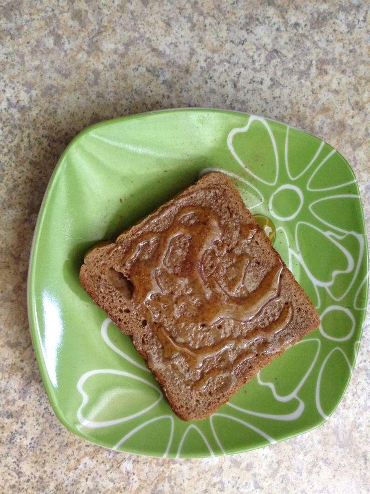 Ψωμί σίκαλης με ταχίνι και μέλι