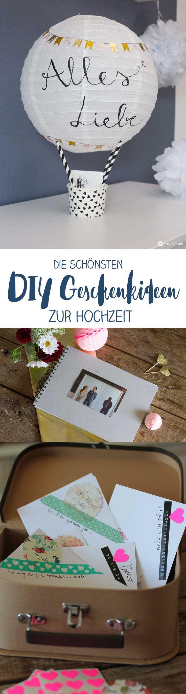Die schönsten DIY Geschenkideen zur Hochzeit Geldgeschenke und Gästebuch Alternativen diyideen diyhochzeit