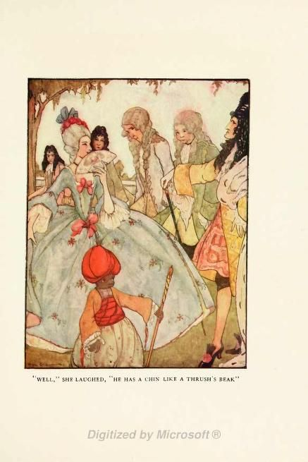 illustration from king thrushbeard in grimms fairy tales edited by frances jenkins olcott with