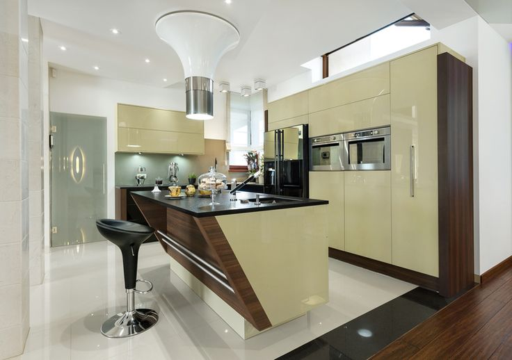 Studio ADAD Jasło OTWARTA KUCHNIA- Kolejny przykład jak wyspa może się sprawdzić w otwartej kuchni.