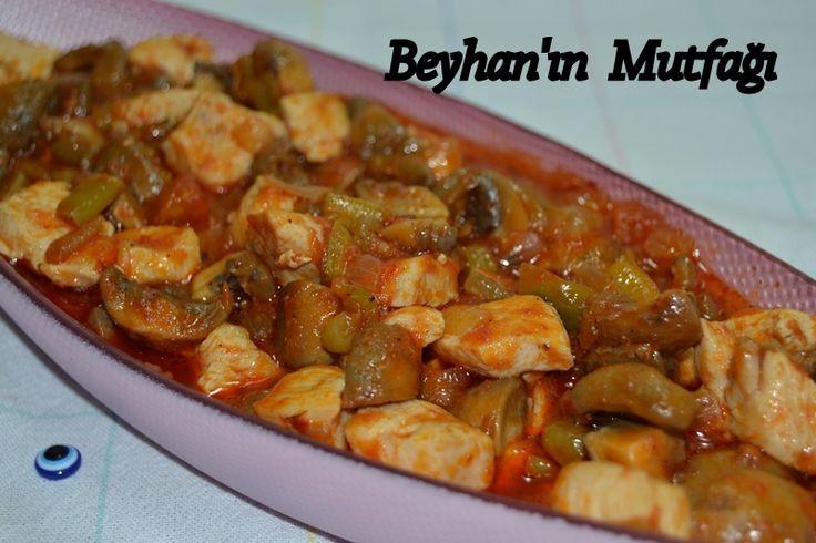 Tavuklu mantar sote, iftar yemekleri, yemek tarifleri, sulu yemekler, tavuk yemekleri, mantar sote, ramazan menüsü, yemekler, mantar yemeği