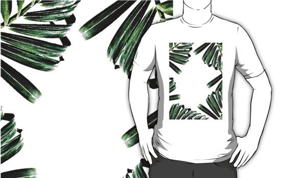 Palm Leaf Watercolor Pattern #redbubble #lifestyle