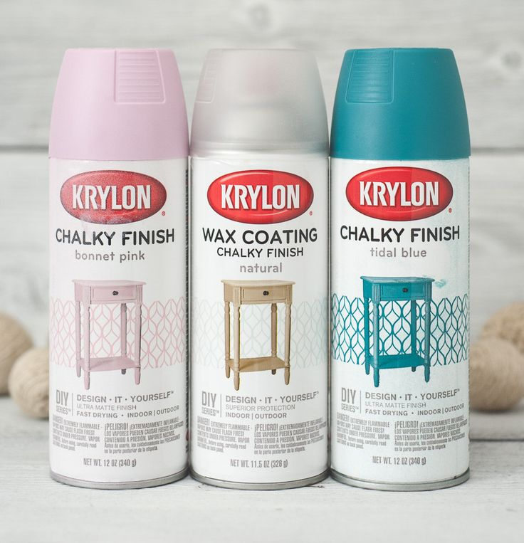 Krylon chalk paint, pink and turqouse-teal.