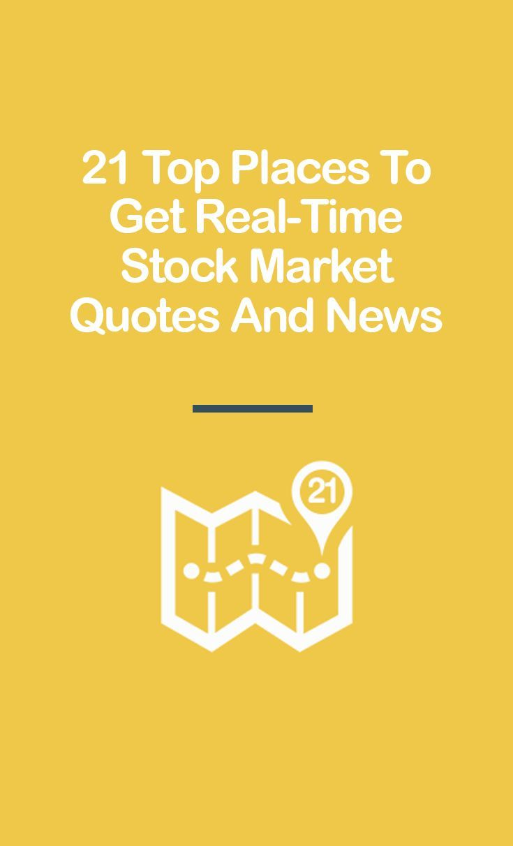 Stock Market Quote 19 Top Places To Get Real Time Stock Quotes And Market News  Stock .