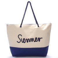 Prostorná, originální a kvalitní plážová taška. #modrá #kabelky #pláž #léto #móda #dovolená #krása
