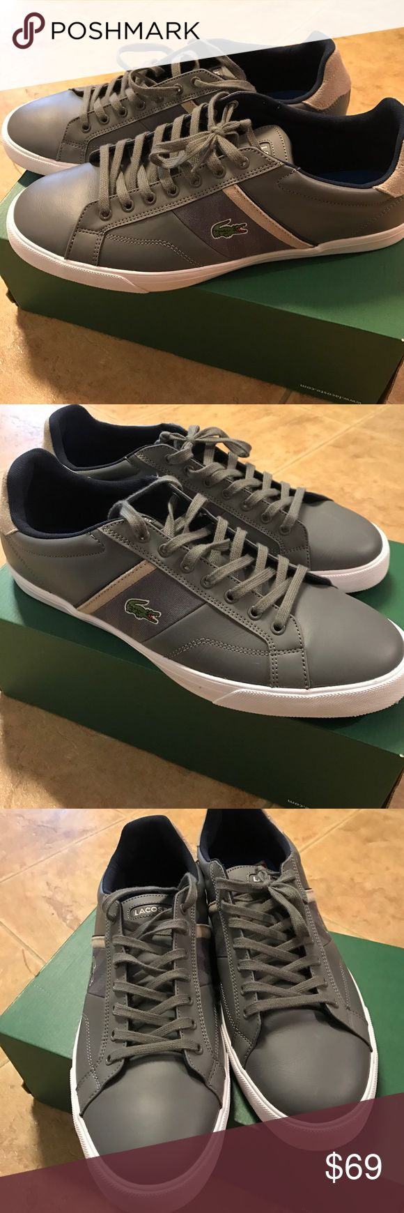 Lacoste men shoes size 13 Brand-new men's shoes like host size 13 box is missing lid, gray color, perfect for spring Lacoste Shoes Athletic Shoes