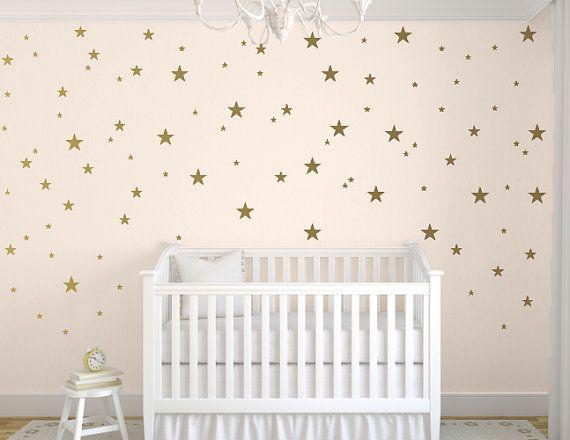 Gold Star Decals Star Wall Decals Nursery by TweetHeartWallArt