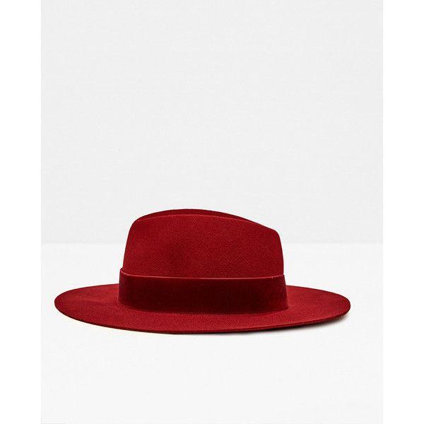 HAT MED BREDT BÅND I VELOUR - Se alle varer-TILBEHØR-DAME | ZARA... (260 SEK) ❤ liked on Polyvore featuring accessories, hats, zara, novo and velour hat