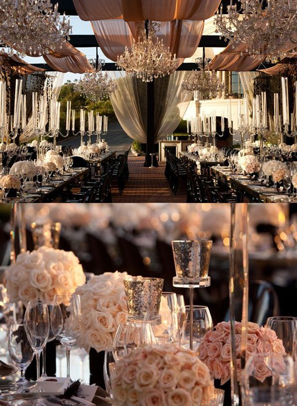 """Quite """"over-the-top"""" ideas. elegant blush pink sophisticated wedding reception ideas"""