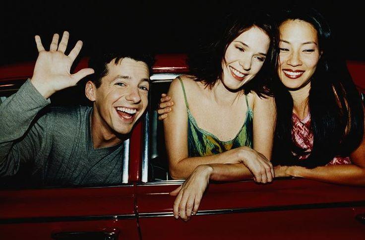 Lucy Liu with Sean Hayes & Sabrina Lloyd. (1999)