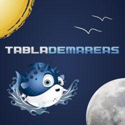 Conoce las tablas de mareas y tablas solunares: hora, altura y coeficiente de la pleamar, bajamar; salida y puesta de sol, fases lunares, actividad de los peces y estado del tiempo.