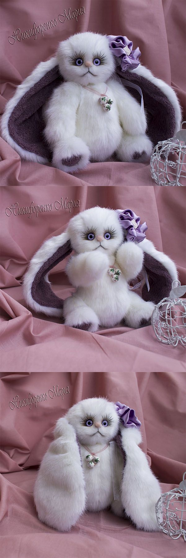 ЧУдеская зайка тедди Виолетта из белой искусственной итальянской норки.Рост 20 см.Подарит море радости и нежности! #зайка #зайка_тедди #лавандовая_зайка #подарок_девочке #подарок_девушке #подарок_женщине #игрушка #подарок_новый_год #gift_Christmas #белая_зайка #teddy #teddy_rabbit #rabbit #white_rabbit #gift_for_her #toy