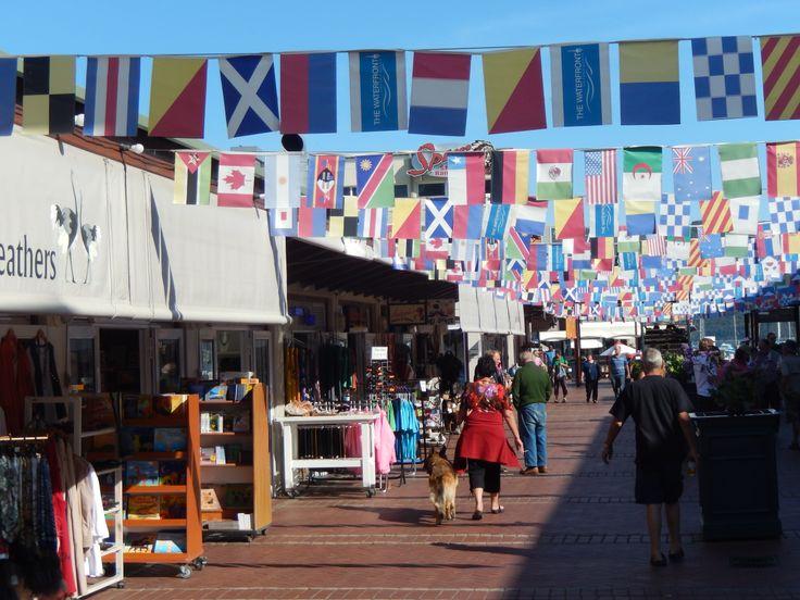 Waterfront market area, Knysna.