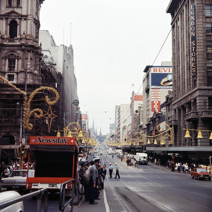 Christmas, Melbourne. Circa 1969