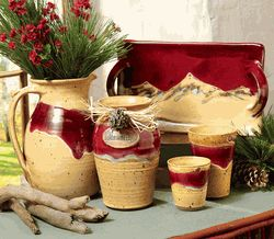 Mocha Red River Pottery Accessories